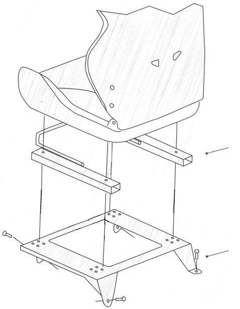 omp kit de fixation universelle inferieure plus 50 62 75mm noir 66073. Black Bedroom Furniture Sets. Home Design Ideas