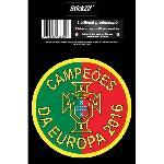 1 Adhesif Rond Avec Croix du Portugal Campeoes Da Europa 2016 STP2R