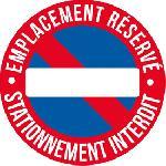 1 Adhesif emplacement reserve diametre 25cm Generique
