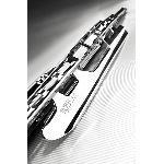 1 Balai Essuie-Glace Metal Inox Universel - Chrome - 45cm Generique