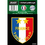 1 Sticker Blason FRANCE 1998-2018 Generique
