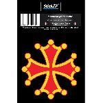 1 Sticker Croix Occitane - ADNAuto