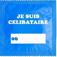1 X preservatif Je Suis Celibataire Bleu