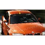 1 sticker Pare-soleil ADN Auto Drift Squad - 1250 x 190 - Gris sur fond noir