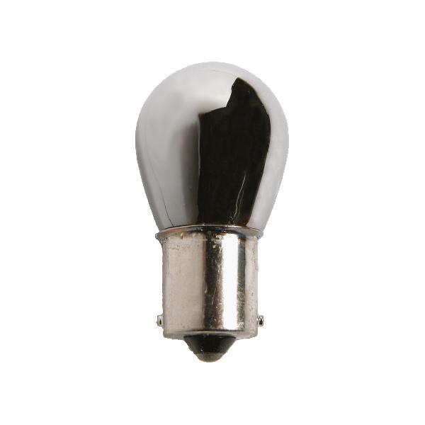 2 ampoules chromees BAU15S pour clignotants eclairage orange