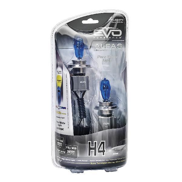 2 Ampoules H4 Alfas Maximum Intensity 6000K 75/85W 110/120W
