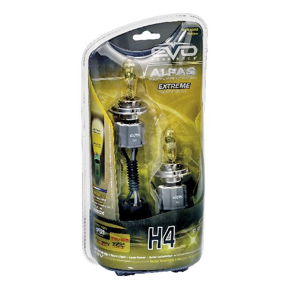2 Ampoules H4 Alfas Maximum Penetration 2800K Jaune 75/85W 110/120W