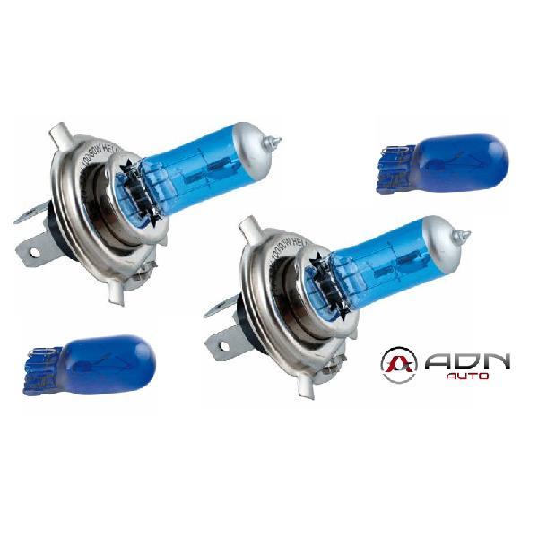 2 Ampoules Spectra H4 12V 90/100W 5700K - P43T - 2 Ampoules T10 12V 5W - W2.1x9.5D