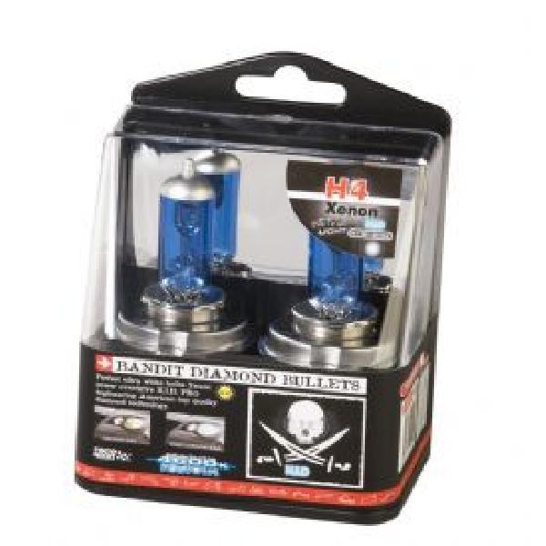 2 Ampoules Xenon Bandit - H4 12V 55W 4600K - P43T - Homologuees