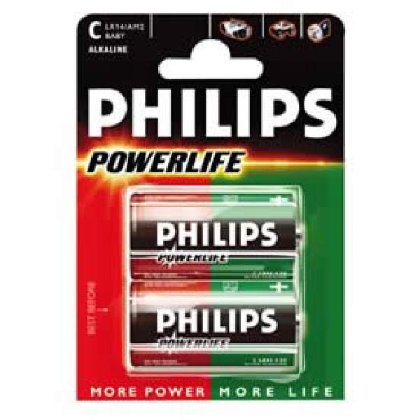2 Piles 1.5V LR14 alcaline - PHILIPS