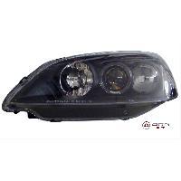 2 Phares pour Honda Civic Coupe 01-05 - Angel Eyes - Noir - destockage Generique