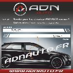 2 Stickers compatible avec bas de caisse ADNAuto - NoirBlanc - ADNLifestyle