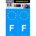 2 autocollants Pays Europe FRANCE