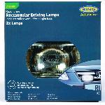 2 projecteurs longue-portee rectangulaires ROADRUNNER - 95x180x85mm - RL022