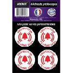 4 Adhesifs Pre-Decoupes PROTECTION Alarme 24-24