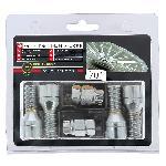 4 Vis Antivol 14x150 Coniques L28mm - 2 Cles Avec Numero De Series