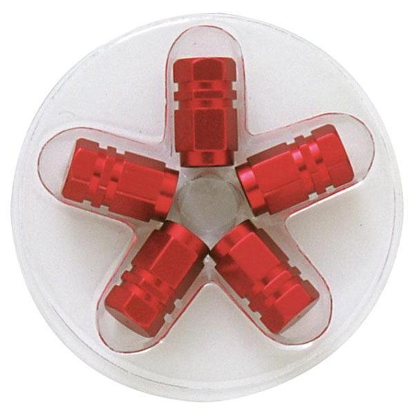 5 bouchons de Valves - Rouges - Hexagonaux