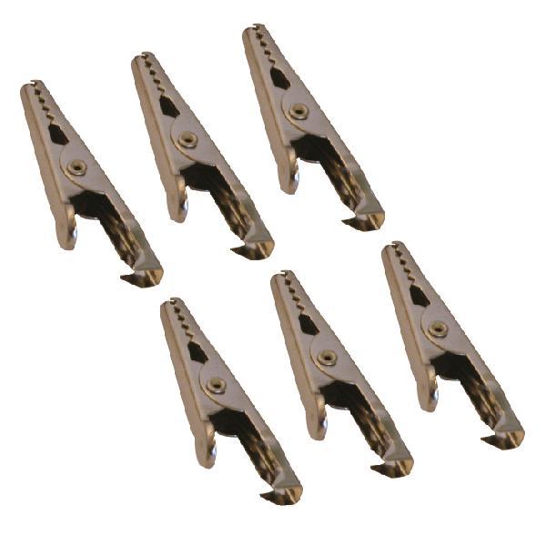 6 Pinces crocodile