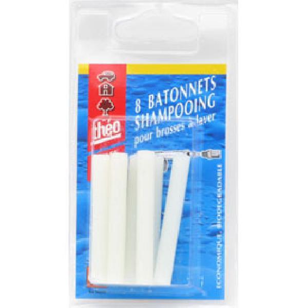 8 Batonnets shampooing pour brosse a laver