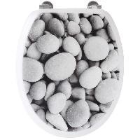 Abattant Wc - Rehausseur Abattant WC galets de plage - Gris Gelco