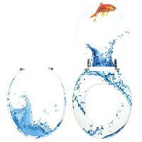Abattant Wc - Rehausseur Abattant wc fantaisie décoration poisson Wirquin
