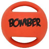 Abreuvoir Balle Mini Bomber 11.4 cm - Orange et noir - Pour chien