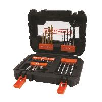 Accessoire - Consommable Machine Outil BLACK&DECKER Coffret 31 accessoires perçage vissage A7233 Black & Decker