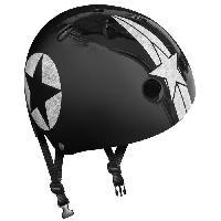 Accessoire - Piece Detachee Vehicule Casque Skate Black Star avec Molette d'Ajustement