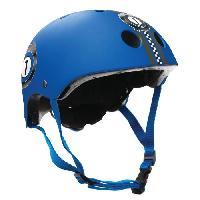 Accessoire - Piece Detachee Vehicule GLOBBER Casque HELMET Junior Taille XS : 51-54cm - RACING Bleu Marine