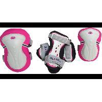 Accessoire - Piece Detachee Vehicule TEMPLAR Set 3 Protections GLOBBER XXS Rose fluo-gris clair -3-7ans-