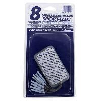Accessoire - Pieces Detachees Pour Appareil D'electrostimulation SPORT ELEC Electrodes electrostimulation - 8 Corps - Sport-elec