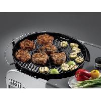 Accessoire Barbecue Plancha - Grille - Plaque - Tablette - Couvercle Grille de saisie pour Gourmet BBQ System - Fonte d'acier