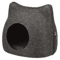 Accessoire De Cage - Abri Petit Animal Abri douillet Cat - 38 x 35 x 37 cm - Gris anthracite - Pour chat