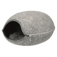 Accessoire De Cage - Abri Petit Animal Abri douillet Luna 40 x 24 x 46 cm - Gris clair - Pour chien