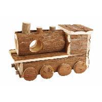 Accessoire De Cage - Abri Petit Animal BUBIMEX Maison en bois train - Pour rongeur