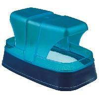 Accessoire De Cage - Abri Petit Animal Bac a sable pour hamsters et souris 17X10X10 cm bleu fonce turquoise