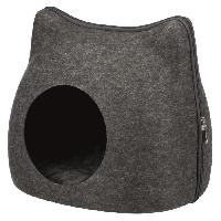 Accessoire De Cage - Abri Petit Animal TRIXIE Abri douillet Cat 38 x 35 x 37 cm - Gris anthracite - Pour chat