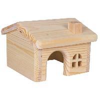 Accessoire De Cage - Abri Petit Animal TRIXIE Maisonnette en bois pour hamsters-souris 15 x 11 x 15 cm