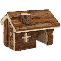 Accessoire De Cage - Abri Petit Animal TYROL Chalet 100% écorce de cedre - 14 x 12 x 10 cm - Pour hamster et petits mammiferes