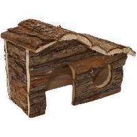 Accessoire De Cage - Abri Petit Animal TYROL Chalet 100% écorce de cedre - 17 x 25 x 14 cm - Pour cobayes et petits rongeurs