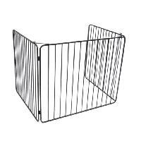 Accessoire De Cheminee DELTA Barriere de protection Vulcain en acier noir