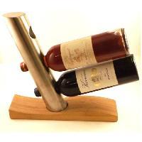 Accessoire De Cuisine Colonnne 3 bouteilles - marron