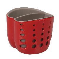 Accessoire De Cuisine Porte eponge rouge et gris