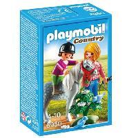 Accessoire De Figurine 6950 Cavaliere avec soigneur et poney - Playmobil