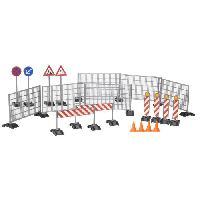 Accessoire De Figurine BRUDER - Accessessoires de chantier- panneaux de signalisation. plots... - 18 cm