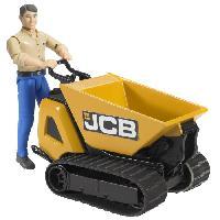 Accessoire De Figurine BRUDER - Mini Dumper JCB HTK-5 -Benne- avec personnage - 10.5 cm