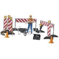 Accessoire De Figurine BRUDER - Set de construction Bworld avec figurine - 10.7 cm