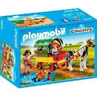 Accessoire De Figurine PLAYMOBIL 6948 - Country - Enfants avec Chariot et Poney