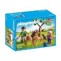 Accessoire De Figurine PLAYMOBIL 6949 - Country - Veterinaire avec Enfant et Poneys