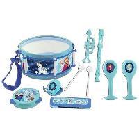 Accessoire De Jeu Multimedia Enfant LEXIBOOK - LA REINE DES NEIGES - Lot de 7 Instruments de musique Enfant - Tambourin - Maracas - Castagnette - Harmonica - Flute a be